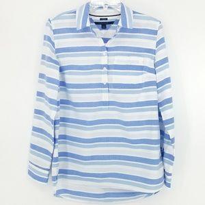 Tommy Hilfiger Striped Boyfriend Fit Button-Down